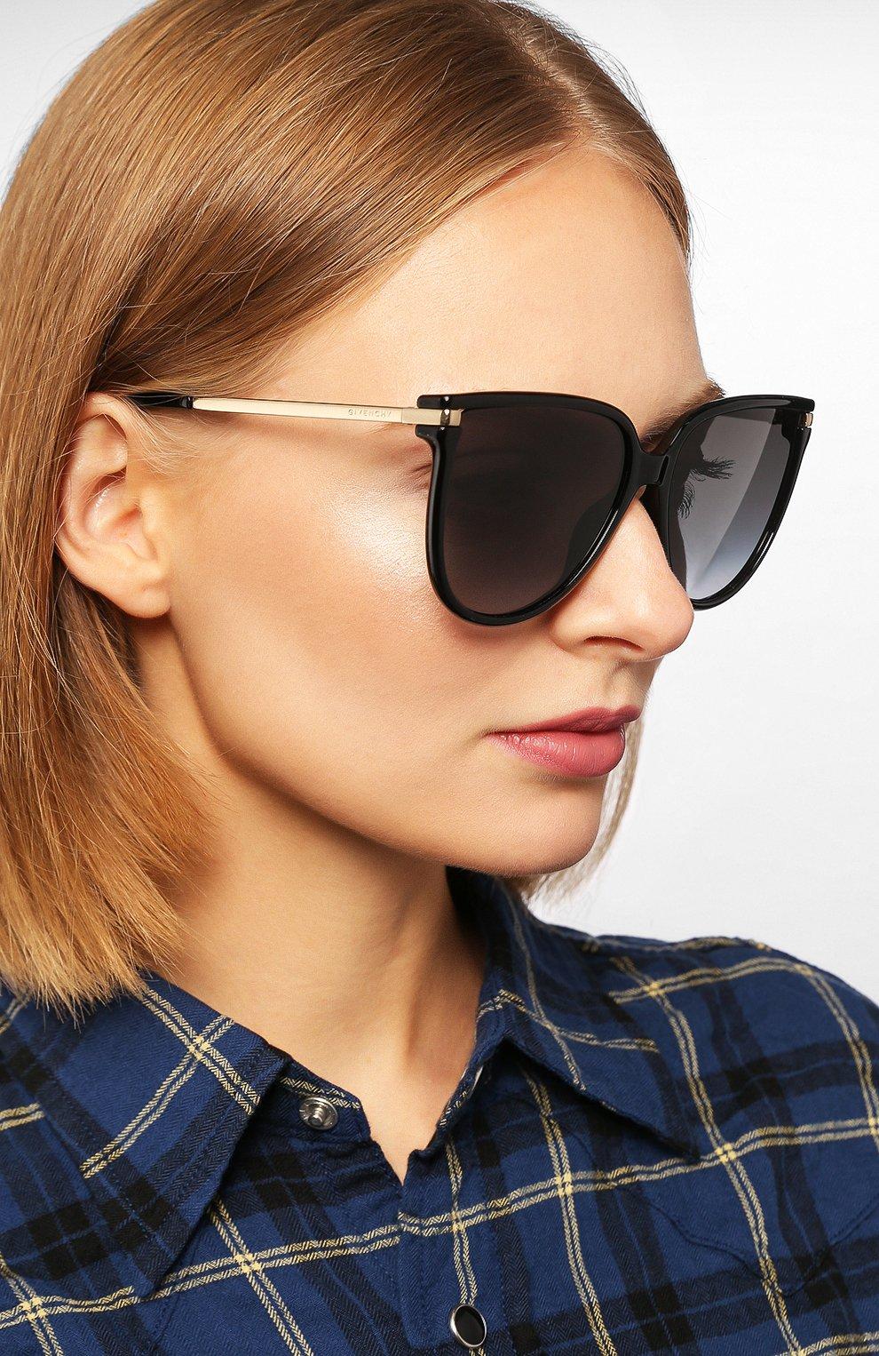 Женские солнцезащитные очки GIVENCHY черного цвета, арт. 7131/G 807   Фото 2