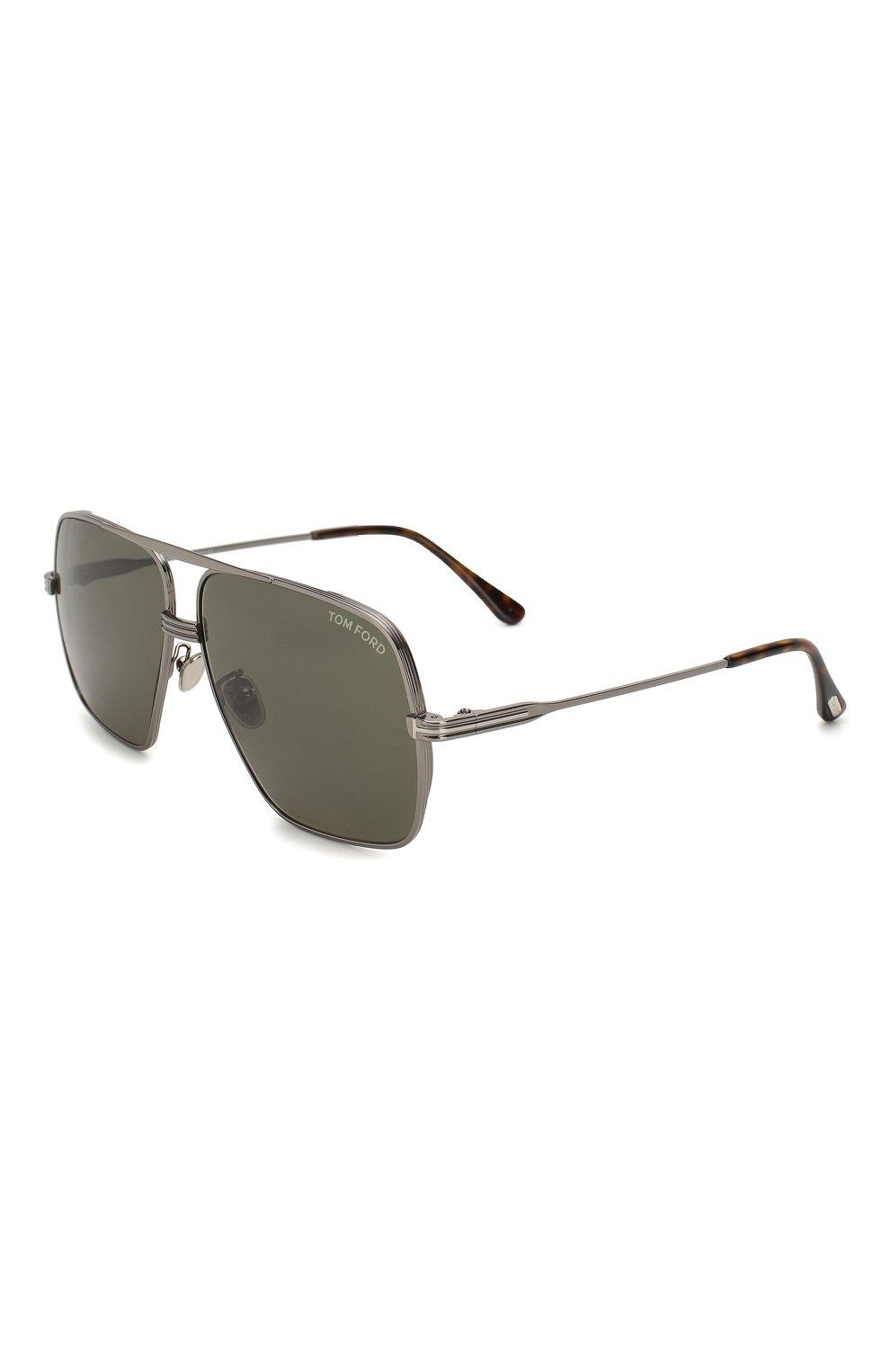 Мужские солнцезащитные очки TOM FORD темно-серого цвета, арт. TF735-H 12N | Фото 1