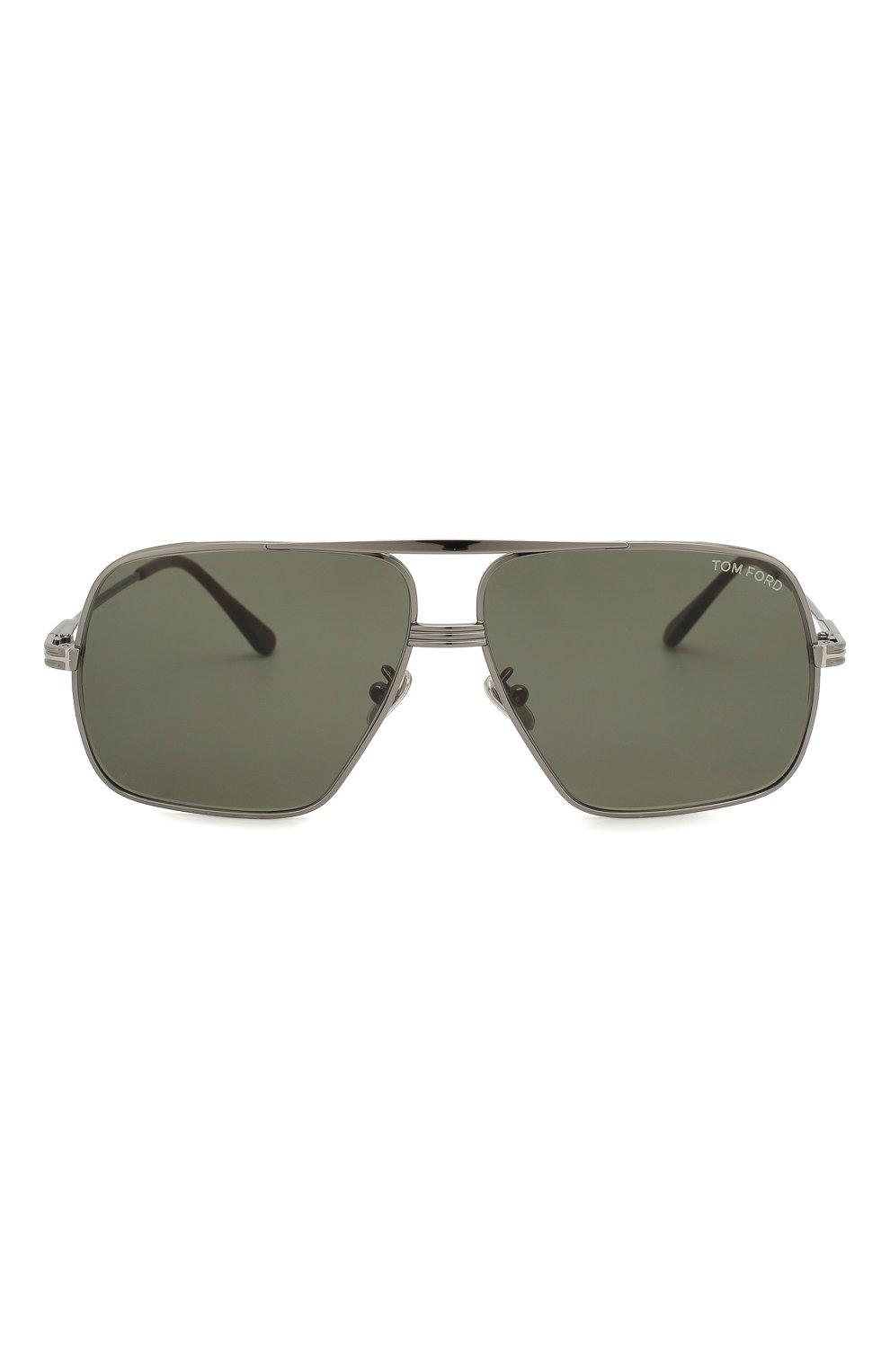 Мужские солнцезащитные очки TOM FORD темно-серого цвета, арт. TF735-H 12N   Фото 2