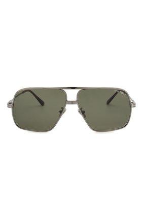 Мужские солнцезащитные очки TOM FORD темно-серого цвета, арт. TF735-H 12N | Фото 2