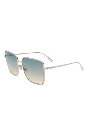 Женские солнцезащитные очки TOM FORD голубого цвета, арт. TF739 16P | Фото 1