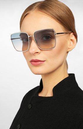 Женские солнцезащитные очки TOM FORD голубого цвета, арт. TF739 16P | Фото 2