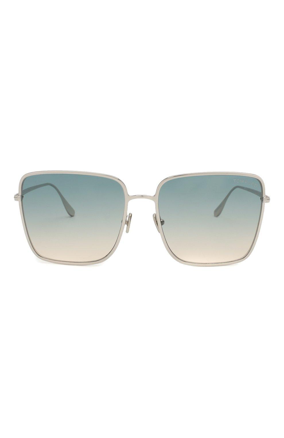Женские солнцезащитные очки TOM FORD голубого цвета, арт. TF739 16P | Фото 3