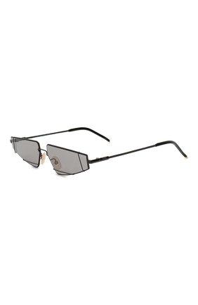 Мужские солнцезащитные очки FENDI черного цвета, арт. M0054 807 | Фото 1