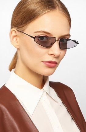 Мужские солнцезащитные очки FENDI черного цвета, арт. M0054 807 | Фото 2