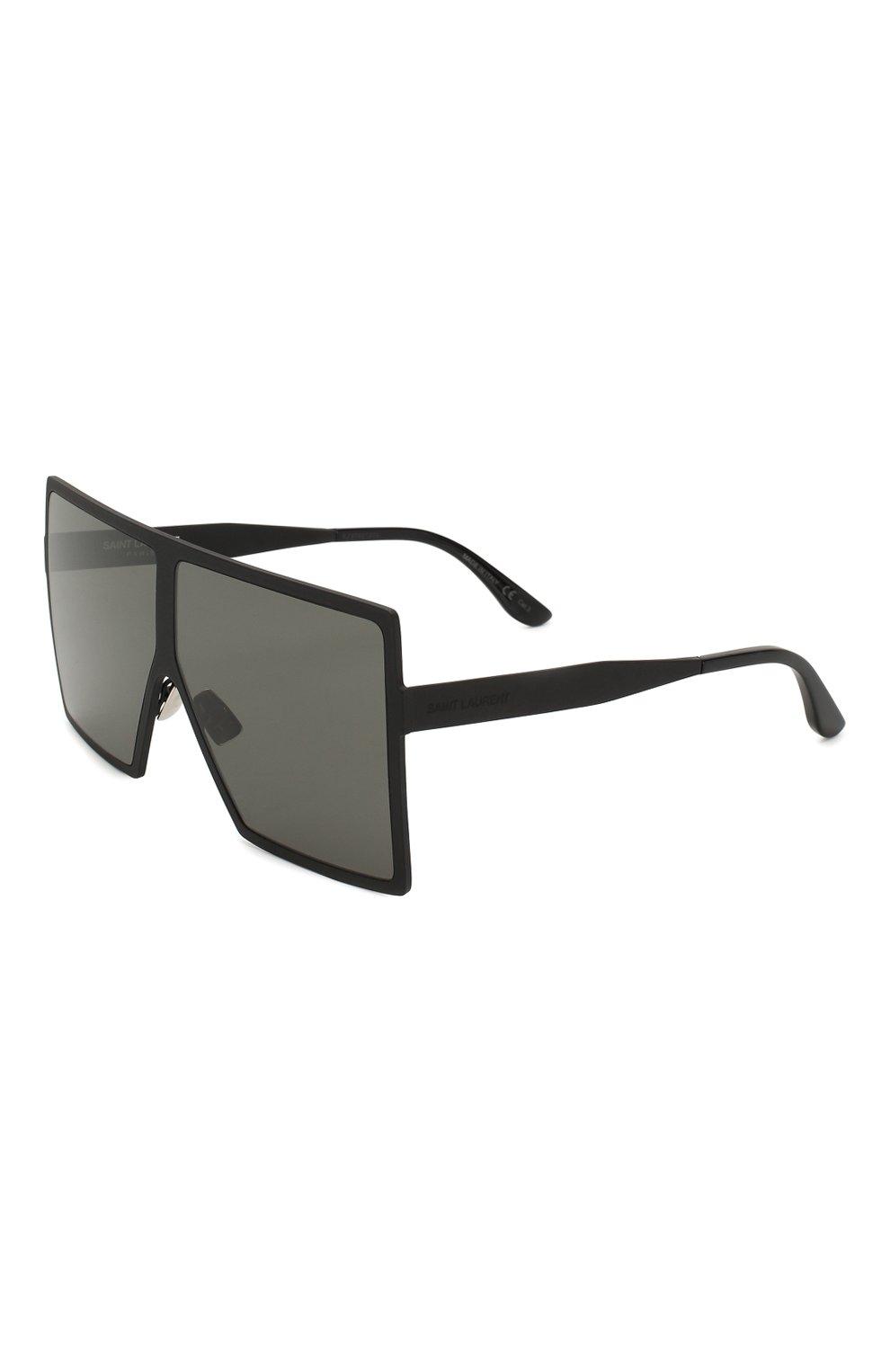 Женские солнцезащитные очки SAINT LAURENT черного цвета, арт. SL 182 BETTY 001 | Фото 1