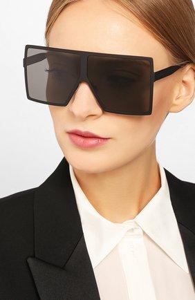 Женские солнцезащитные очки SAINT LAURENT черного цвета, арт. SL 182 BETTY 001 | Фото 2