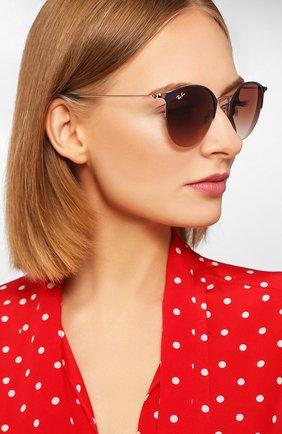 Женские солнцезащитные очки RAY-BAN коричневого цвета, арт. 3578-917513 | Фото 2