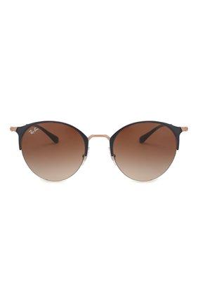 Женские солнцезащитные очки RAY-BAN коричневого цвета, арт. 3578-917513 | Фото 3