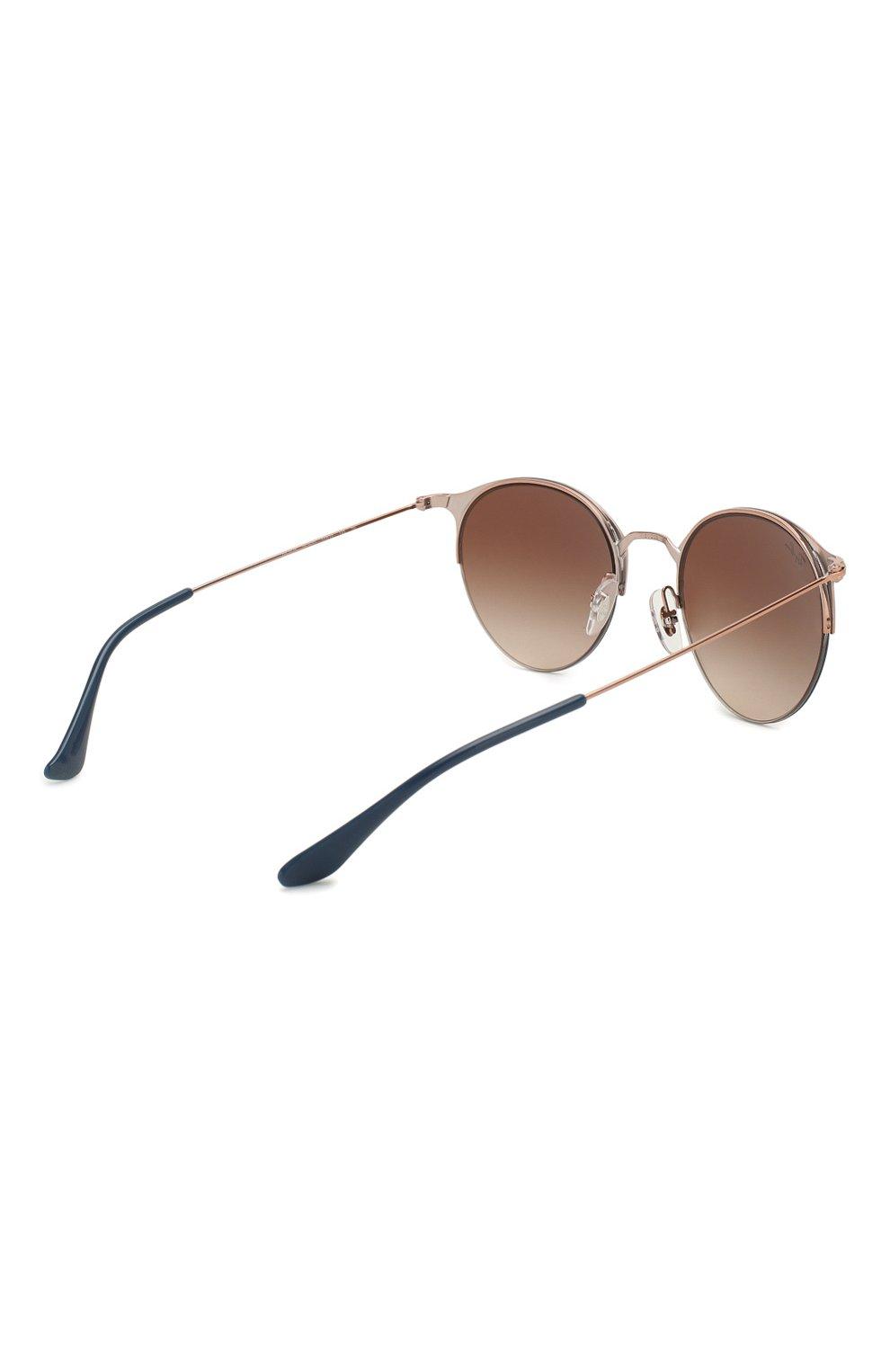 Женские солнцезащитные очки RAY-BAN коричневого цвета, арт. 3578-917513 | Фото 4
