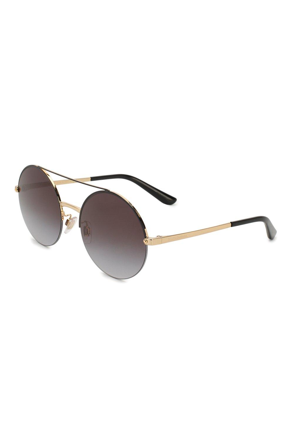 Женские солнцезащитные очки DOLCE & GABBANA черного цвета, арт. 2237-13058G | Фото 1