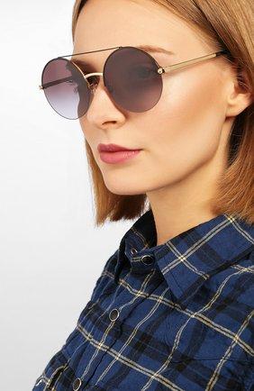 Женские солнцезащитные очки DOLCE & GABBANA черного цвета, арт. 2237-13058G | Фото 2