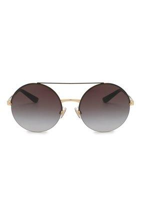 Женские солнцезащитные очки DOLCE & GABBANA черного цвета, арт. 2237-13058G | Фото 3