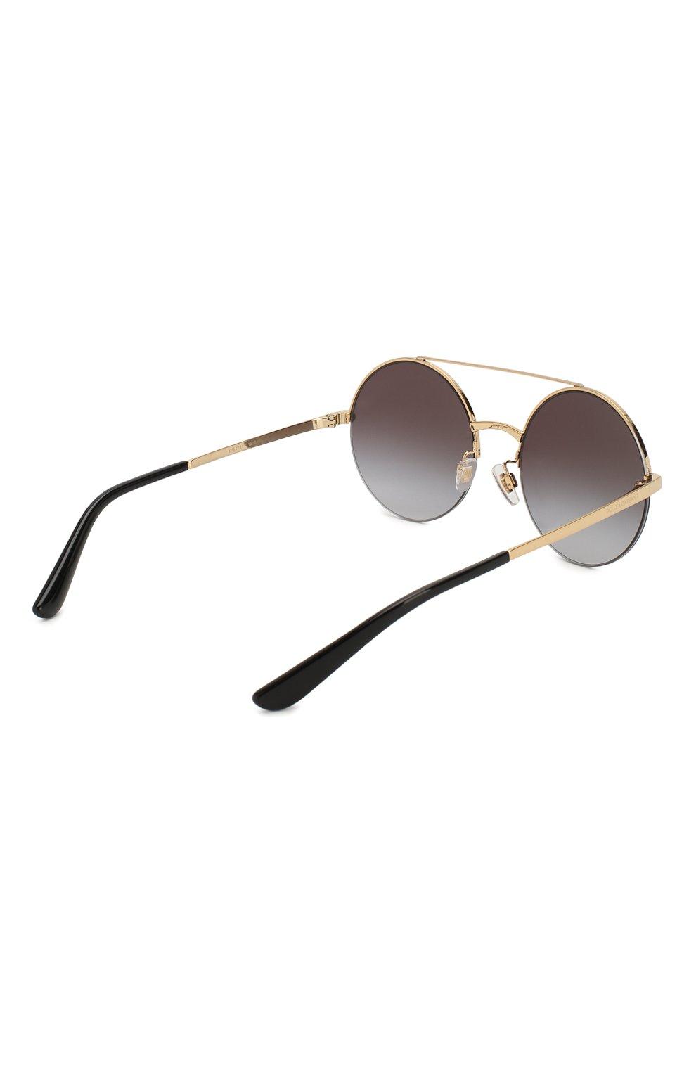 Женские солнцезащитные очки DOLCE & GABBANA черного цвета, арт. 2237-13058G | Фото 4