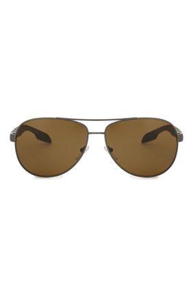 Мужские солнцезащитные очки PRADA LINEA ROSSA темно-серого цвета, арт. 53PS-5AV5Y1 | Фото 2
