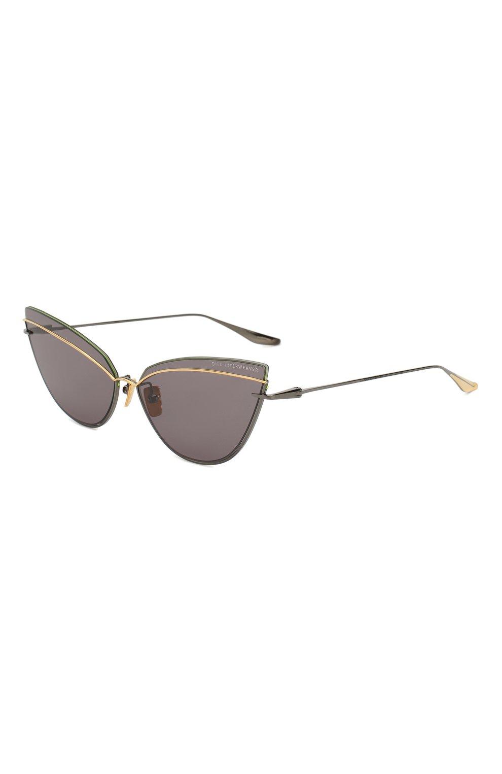 Женские солнцезащитные очки DITA серого цвета, арт. INTERWEAVER/03 | Фото 1