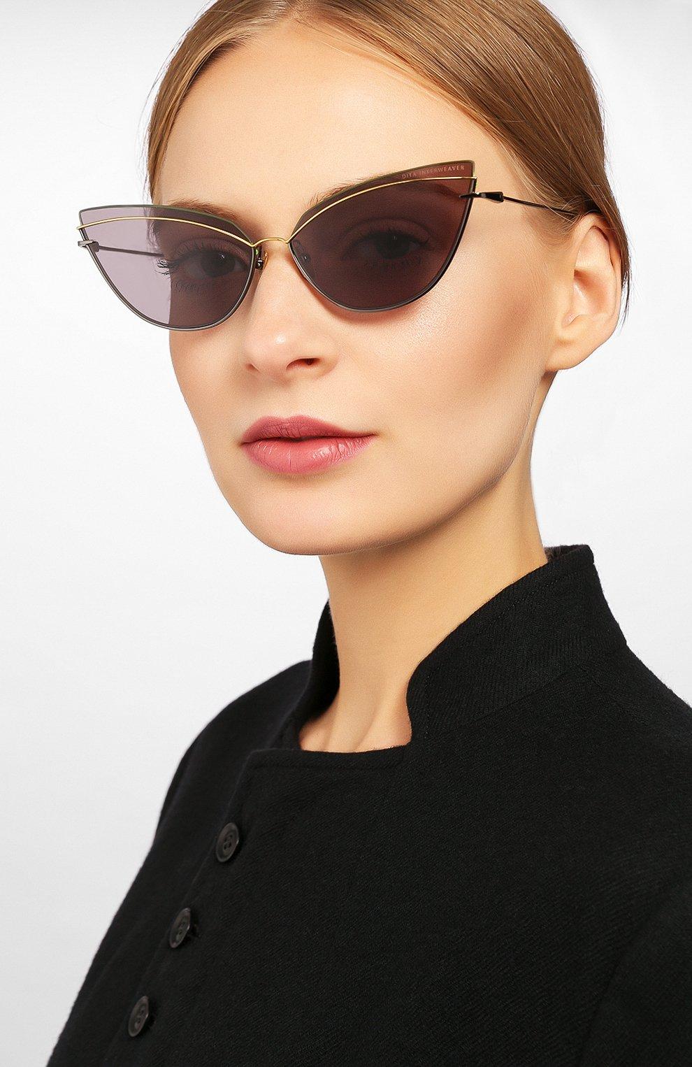 Женские солнцезащитные очки DITA серого цвета, арт. INTERWEAVER/03 | Фото 2