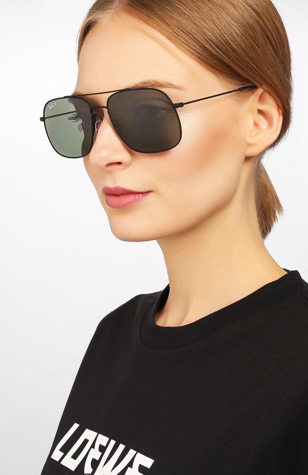 Женские солнцезащитные очки RAY-BAN черного цвета, арт. 3595-90149A | Фото 2