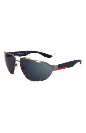 Мужские солнцезащитные очки PRADA LINEA ROSSA синего цвета, арт. 56US-DG1387 | Фото 1