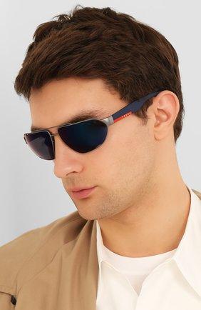 Мужские солнцезащитные очки PRADA LINEA ROSSA синего цвета, арт. 56US-DG1387 | Фото 2