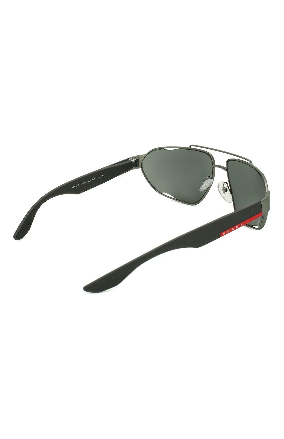 Мужские солнцезащитные очки PRADA LINEA ROSSA темно-серого цвета, арт. 56US-DG13C0 | Фото 3