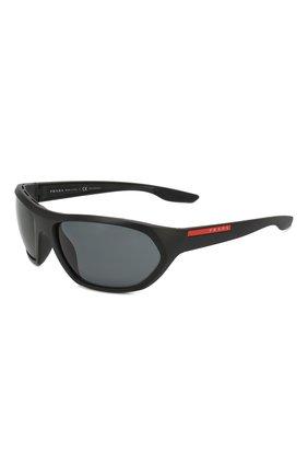 Женские солнцезащитные очки PRADA LINEA ROSSA черного цвета, арт. 18US-1B05Z1 | Фото 1