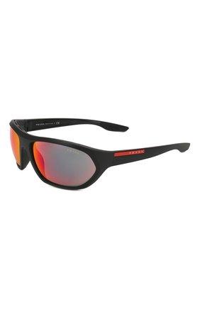 Мужские солнцезащитные очки PRADA LINEA ROSSA черного цвета, арт. 18US-1B09Q1 | Фото 1