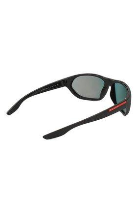 Мужские солнцезащитные очки PRADA LINEA ROSSA черного цвета, арт. 18US-1B09Q1 | Фото 3