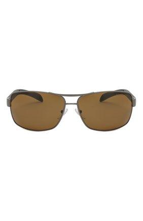 Мужские солнцезащитные очки PRADA LINEA ROSSA коричневого цвета, арт. 54IS-5AV5Y1 | Фото 2
