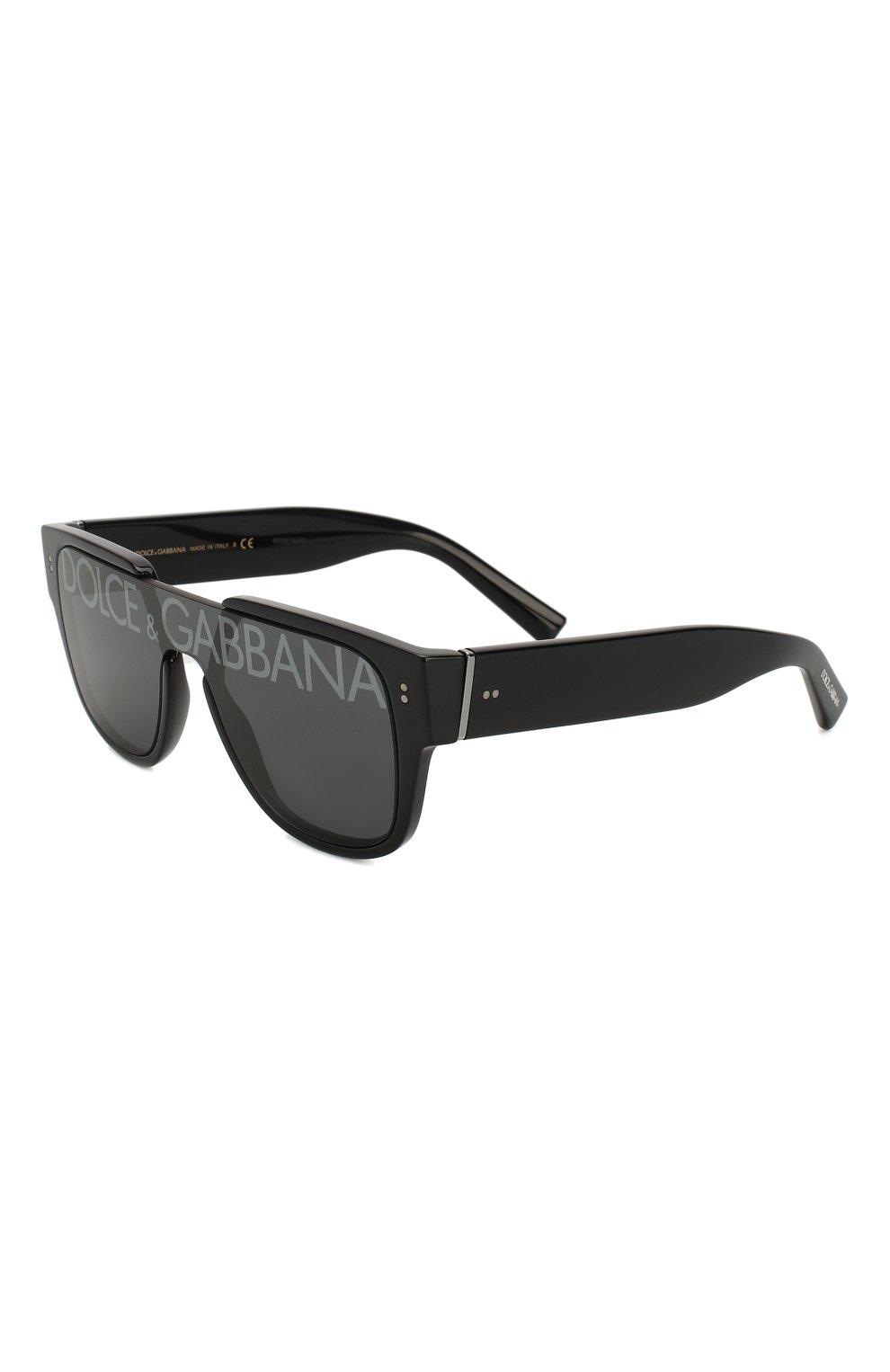 Мужские солнцезащитные очки DOLCE & GABBANA черного цвета, арт. 4356-501/M   Фото 1