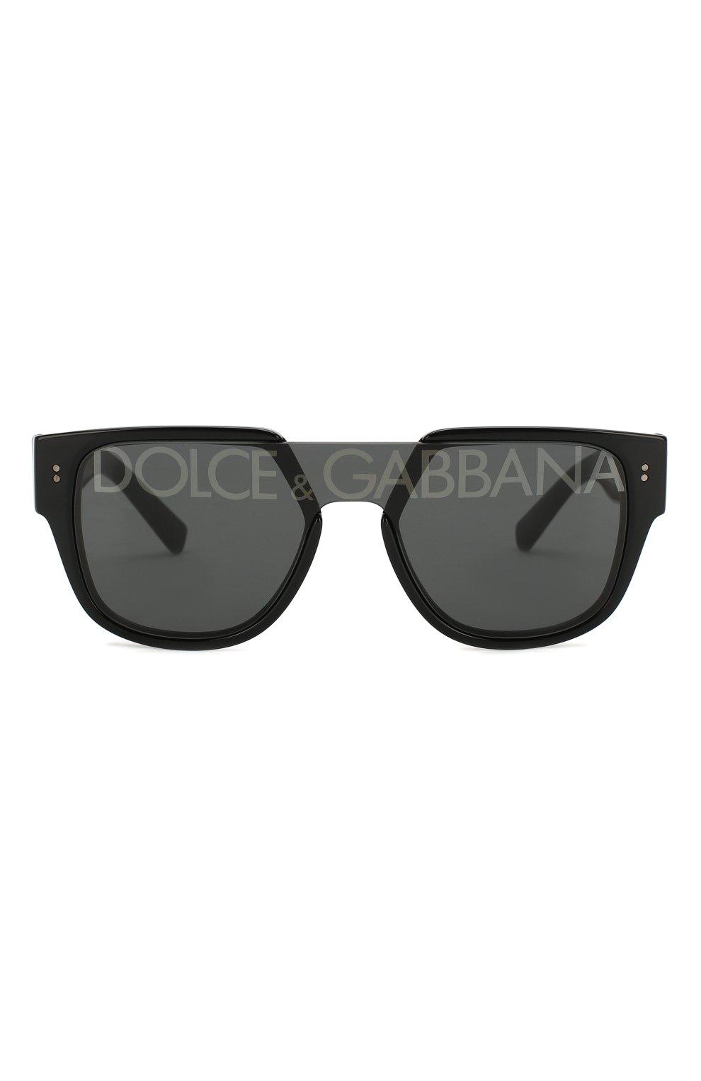 Мужские солнцезащитные очки DOLCE & GABBANA черного цвета, арт. 4356-501/M   Фото 2