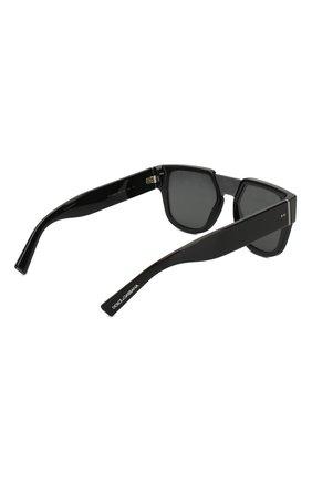 Мужские солнцезащитные очки DOLCE & GABBANA черного цвета, арт. 4356-501/M   Фото 3