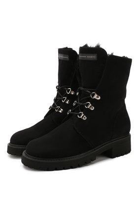 Женские замшевые ботинки phillis GIUSEPPE ZANOTTI DESIGN черного цвета, арт. I970001/006 | Фото 1