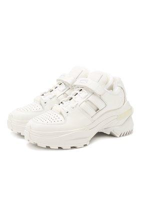 Женские кожаные кроссовки retro fit MAISON MARGIELA белого цвета, арт. S39WS0037/P2695 | Фото 1
