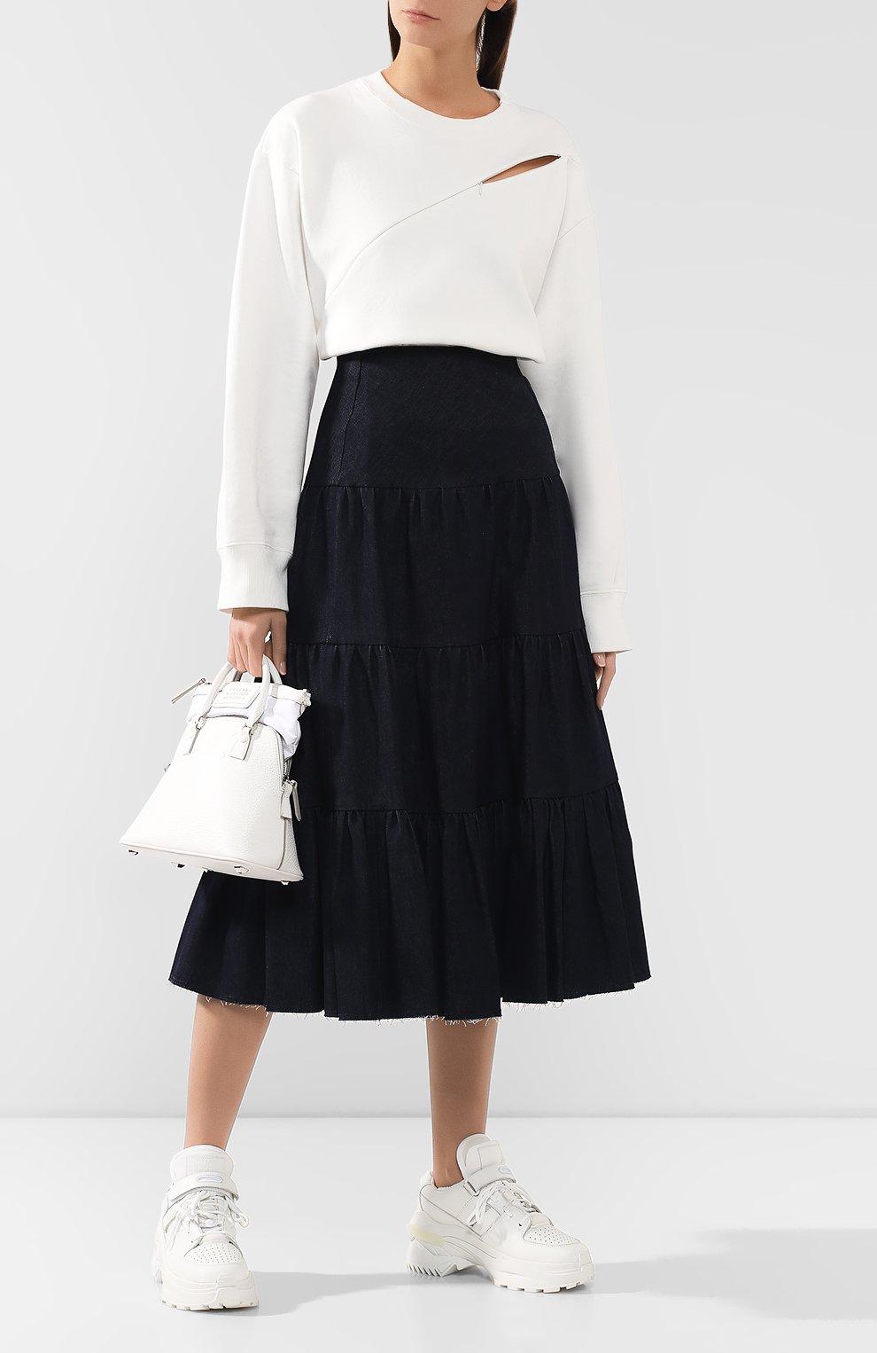 Женские кожаные кроссовки retro fit MAISON MARGIELA белого цвета, арт. S39WS0037/P2695 | Фото 2