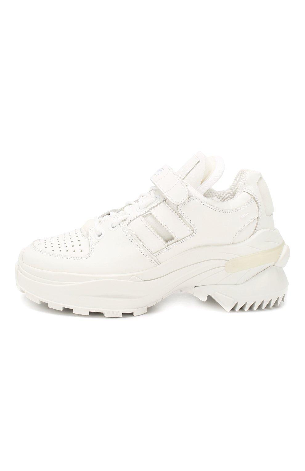 Женские кожаные кроссовки retro fit MAISON MARGIELA белого цвета, арт. S39WS0037/P2695 | Фото 3