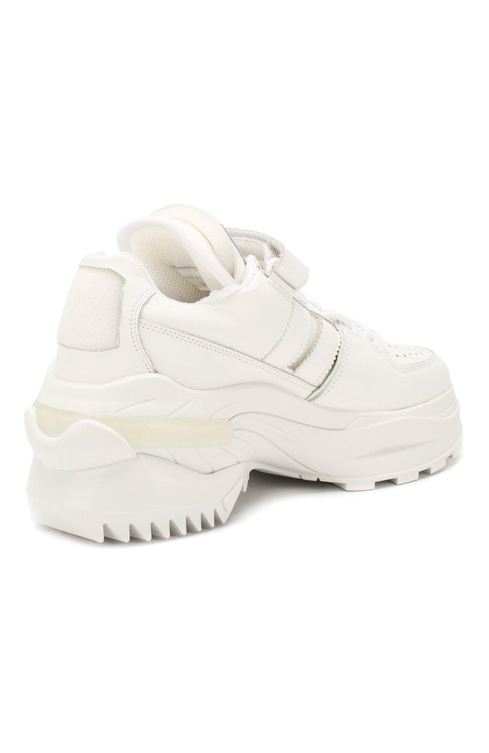 Женские кожаные кроссовки retro fit MAISON MARGIELA белого цвета, арт. S39WS0037/P2695 | Фото 4