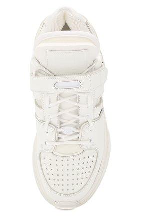 Женские кожаные кроссовки retro fit MAISON MARGIELA белого цвета, арт. S39WS0037/P2695 | Фото 5
