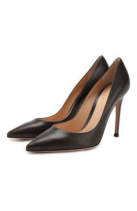 Женские кожаные туфли gianvito 105 GIANVITO ROSSI темно-коричневого цвета, арт. G28470.15RIC.VITM0KA | Фото 1