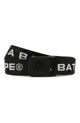 Мужской ремень BAPE черного цвета, арт. 1F80182020 | Фото 1