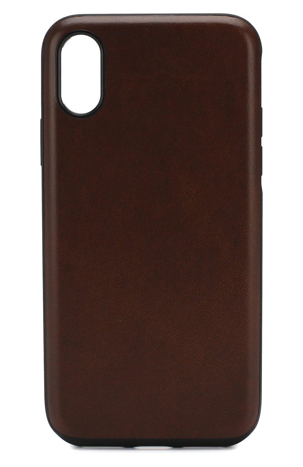 Мужской чехол для iphone x/xs NOMAD коричневого цвета, арт. NM21FR0000 | Фото 1