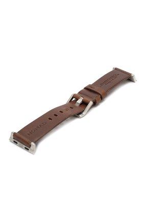 Мужской ремешок для apple watch 44mm NOMAD коричневого цвета, арт. NM1A4RSM00 | Фото 3