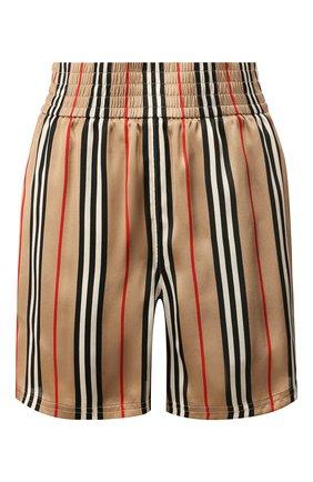 Женские шелковые шорты BURBERRY бежевого цвета, арт. 8014286 | Фото 1