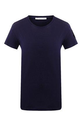 Женская хлопковая футболка MONCLER темно-синего цвета, арт. E2-093-80904-60-V8058 | Фото 1