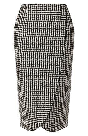 Женская юбка GIORGIO ARMANI черно-белого цвета, арт. 9WHNN02J/T01A7 | Фото 1