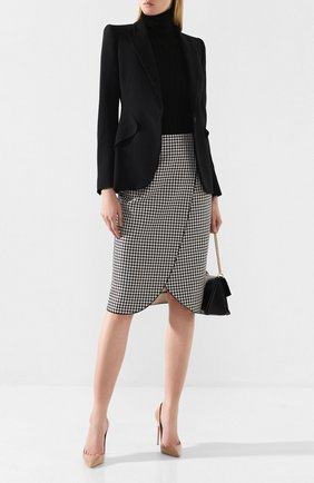 Женская юбка GIORGIO ARMANI черно-белого цвета, арт. 9WHNN02J/T01A7 | Фото 2
