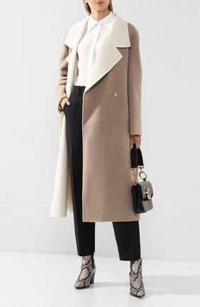 Женское кашемировое пальто GIORGIO ARMANI бежевого цвета, арт. 9WH0L03H/T01BB   Фото 2