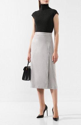 Женская кашемировая юбка LORO PIANA светло-серого цвета, арт. FAI8556 | Фото 2