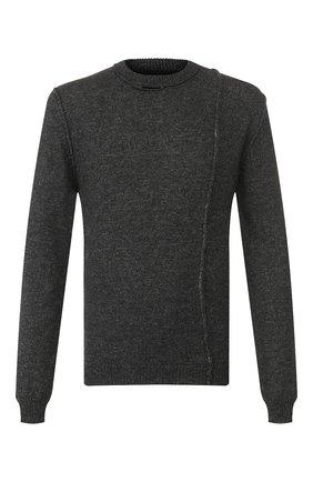 Мужской шерстяной свитер ISABEL BENENATO серого цвета, арт. UK11F19 | Фото 1