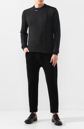 Мужской шерстяной свитер ISABEL BENENATO серого цвета, арт. UK11F19 | Фото 2